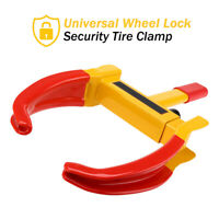 Wheel Tire Lock Clamp Anti-Theft Secure Boot Claw Trailer Auto Car Truck Towing