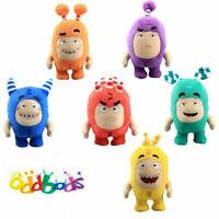 Set Of 6 Oddbods Plush Toys Fuse Slick Bubbles Zee Pogo Jeff Newt Doll Kids Gift
