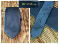 STEFANO RICCI LUXURY 100% Silk Charcoal Gray Neck Tie Italy Crystal Embellished