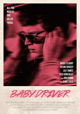 """018 Baby Driver - Ansel Elgort Car Crime Actioon UK Movie 24""""x33"""" Poster"""