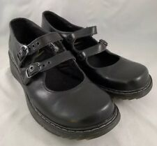 Dr Doc Martens Womens Black Mary Jane Candie 2 Strap Buckle Shoes  US 11 L