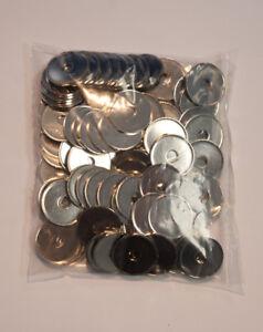 Stahlmünzen, 23,25x1,5mm, gelocht, vernickelt, 100 Stück, Wertmarke