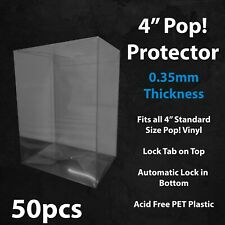 "50 x 4"" 0.35mm Funko Pop! Vinyl Protector Case Acid Free Plastic Sealed"