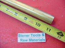 34 C360 Brass Round Rod 11 Long Solid 750 Diameter New Lathe Bar Stock H02