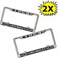 53 1953 Chevrolet Chrome Dealer License Plate Frames Chevy Bowtie Car Truck Pair