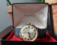 Gents Vintage Timex Marlin Sunburst Baton Dial Stepped Case 1975 Watch - Working