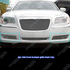 Fits 2011-2014 Chrysler 300/300C Fog Light Stainless Steel Mesh Grille Grill