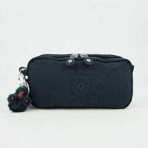 KIPLING CHAP Pen Case Pouch Cosmetic Bag True Blue Tonal