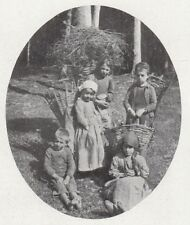 D6519 Tipi di bambini in Val di Scalve - Stampa d'epoca - 1909 vintage print