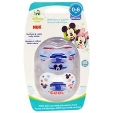 NUK Disney Baby Mickey Mouse Orthodontic Pacifier 0-6 Months 2 Pacifiers