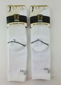 Noble Outfitters All Around Cotton Boot Socks 2.0 White Mens 9-12 Womens 10.5-13