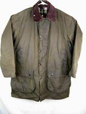 Barbour Border Classic Green/Sage Waxed Jacket VTG Men's Size 42 US or 107cm