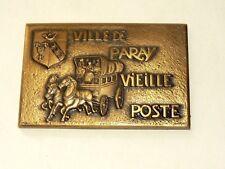 Médaille Ancienne Ville Paray Vieille Poste Malle Diligence Cheval