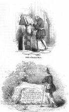 RELIGION. Chain bible; Hadleigh Stone-Taylor martyr 1845 old antique print