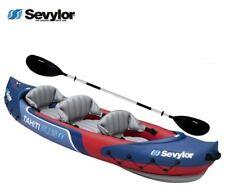 Sevylor Tahiti 2 Plus 1, 3 Person Inflatable Kayak + Paddle