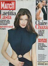 paris match n°2609 laetitia casta cannes chazal barak  / 1999