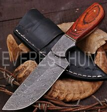 EVEREST HUNT CUSTOM HANDMADE DAMASCUS STEEL HUNTING CAMP SKINNER KNIFE B8-2100