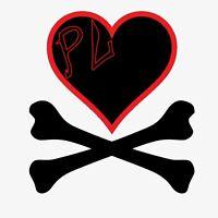 "Small PIRATE'S LIFE brand Skull Bumper Sticker 3"" x 3"" Vinyl Decal"