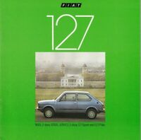 Fiat 127 UK Market Brochure 1980 Incl 900L 1050L Sport & Palio Models 28 Pages