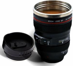 Unique Gadget Camera Lens Shape Cup Coffee Tea Mug Stainless Steel