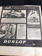 L1-8 Ephemera 1963 Advert Dunlop Well What D'you Know Latex Spray Victory