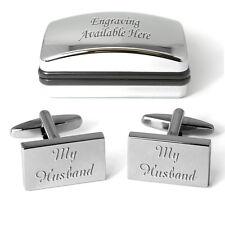 My Husband Cufflinks Personalised Engraved Gift Box Wedding Anniversary Present