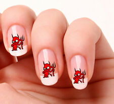 20 Nail Art Decals Transfers Stickers #598 - Red Devil