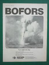 11/1979 PUB BOFORS ORDNANCE SUPER LEPUS AIRCRAFT PARACHUTE FLARE ORIGINAL AD