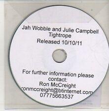 (CU675) Jah Wobble & Julie Campbell, Tightrope - 2011 DJ CD