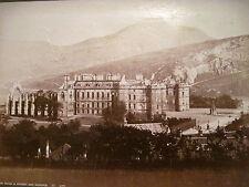 HOLYROOD PALACE ARTHURS SEAT EDINBURGH GWW GW Wilson 277 UK Albumen Photo 8x5
