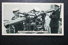 HMS Curacoa   Royal Navy  Gunnery Training    Original 1930's Photo Card   VGC