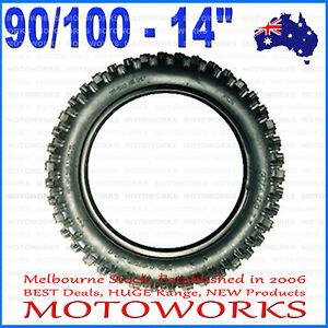 "90/100 - 14"" Inch Rear Knobby Tire Tyre 125cc 140cc BIGFOOT PIT TRAIL Dirt Bike"
