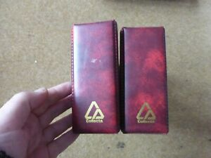2 x Red Collecta FDC albums in good condition - rf912