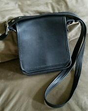 Vintage COACH LEGACY Studio Black Leather Flap Crossbody Handbag #9145