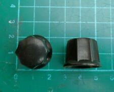 Black Framus guitar control knobs x 2 - original with grub screws