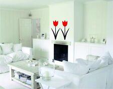 Modern  3D Tulip Acrylic Wall  Decor Art DIY Home bedroom office 15 inch height