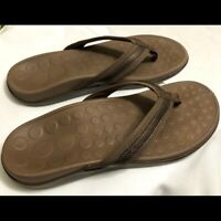 Orthaheel Tide flip flops Sandals Women Size 8 Brown Color