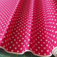 White with Small Red Polka Dot Spotted Spot 100/% Cotton Fabric Dress Craft RC358