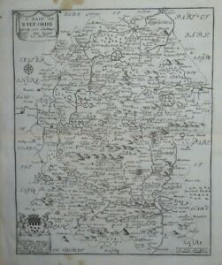 1673 A MAPP OF WILTSHIRE by RICHARD BLOME - Salisbury Wilts Stonehenge Swindon