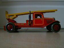Blechspielzeug Feuerwehr Wells England Tinplate Tintoy Tole Jouet Brimtoy Mettoy