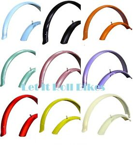 """Bicycle Fender Set for 24"""" Beach Cruiser Bikes ==10 Colors Available"""