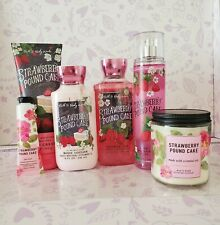 Bath & Body Works DISC Set STRAWBERRY POUND CAKE  ~ 6 pc LOT w Free Shipping