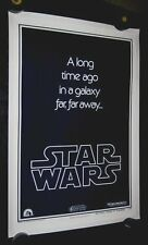 Original STAR WARS B Advance Teaser 1 sheet LINENBACKED Union Strike Version