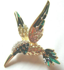 VINTAGE LARGE HUMMING BIRD 'STATEMENT PIECE'  BROOCH