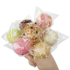 100pcs Clear Party Gift Chocolate Lollipop Wedding Favor Candy Cellophane Bags