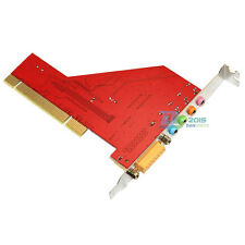 PCI 4 Channel 4CH Audio PC SRS 3D Sound Card Adapter with MIDI 15 Pin Game Port