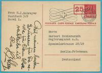 Suisse de 1948 Ganzsachenpostkarte de Bâle après Berlin-Friedenau