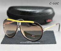 2018-Fashion-Pilot-Men-Womens-Sunglasses-Unisex-Matte-Frame-Carrera-Glasses-C-10