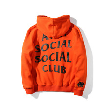 Anti Social Social Club Hoodie Mind Games SOLDOUT Kanye Sweatshirts Pullover 2xl Orange