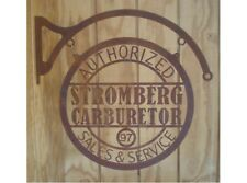 NEW Laser Cut Rusty Look Stromberg Carburetor tin metal sign
